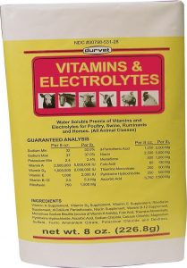 DURVET 136028 Vitamins and Electrolytes