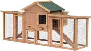 PawHut Large Wooden Chicken Coop